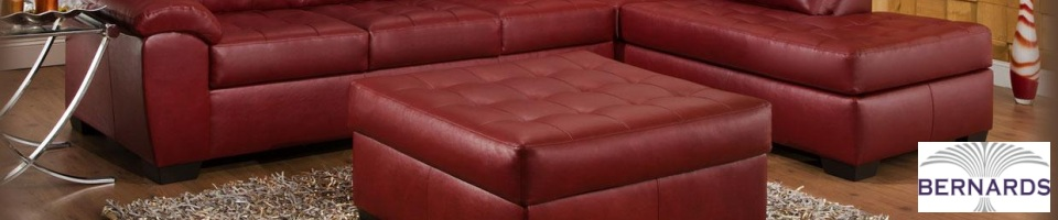 Bernards Bonded Leather Sectionals, Sofas, and Loveseats