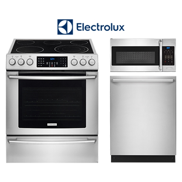 3 Piece Stainless Steel Appliance Package (Electric)