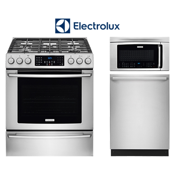 3 piece stainless steel appliance package  gas  kitchen packages   ge frigidaire samsung appliances electrolux      rh   percys com