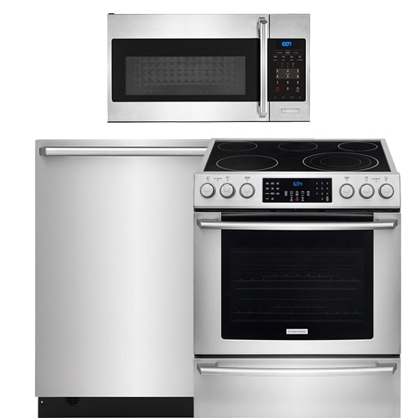 3 piece stainless steel kitchen package kitchen packages   ge frigidaire samsung appliances electrolux      rh   percys com