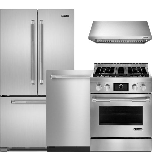 4 Piece Pro Style Stainless Steel Package