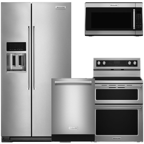 kitchenaid appliance suite refrigerator 4piece stainless steel counterdepth refrigerator package kitchen packages ge frigidaire samsung appliances bosch lg