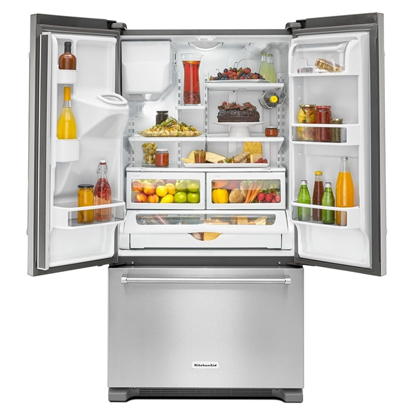 Kitchenaid 30 19 7 Cu Ft French Door Refrigerator With: 19.7 Cu Ft French Door Stainless