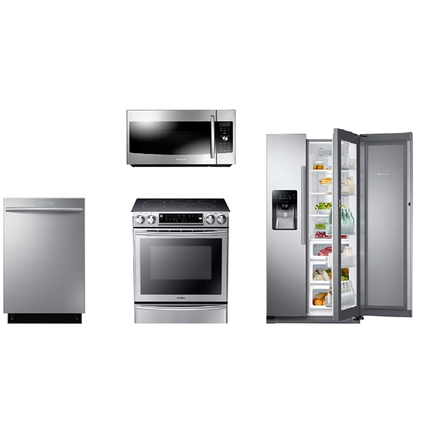 Samsung Kitchen Appliance Package: 4-PC Appliance Package With